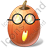 Halloween Pumpkin Nerdy Icon
