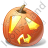 Halloween Pumpkin Shock Icon, PNG/ICO, 48x48