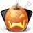 Halloween Pumpkin Vampire Icon