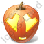 Halloween Pumpkin Adore Icon, PNG/ICO, 64x64