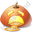 Halloween Pumpkin Badly Icon