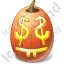 Halloween Pumpkin Easy Money Icon, PNG/ICO, 64x64