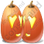 Halloween Pumpkin Love Icon