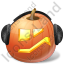 Halloween Pumpkin Music Icon