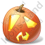 Halloween Pumpkin Shock Icon, PNG/ICO, 64x64