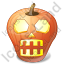 Halloween Pumpkin Skull Icon