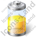 Battery Power Half Icon, PNG/ICO, 128x128