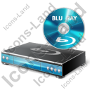 Blu-Ray Player Disc Icon, PNG/ICO, 128x128
