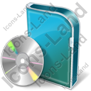 DVD Box DVD Icon, PNG/ICO, 128x128