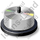 Disc Spindle Icon, AI,