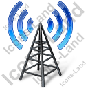 Radio Transmitter Antenna Tower Icon