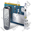TV Tuner Card 2 Remote Control Icon, PNG/ICO, 128x128