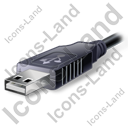 USB Connector Plug Icon, PNG/ICO, 128x128