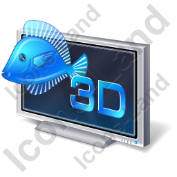 3D Display Icon, PNG/ICO, 256x256
