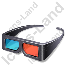 3d Glasses Icon Png Ico Icons 256x256 128x128 64x64 48x48 32x32 24x24 16x16