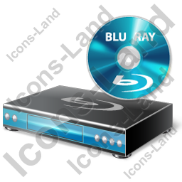 Blu-Ray Player Disc Icon, PNG/ICO, 256x256