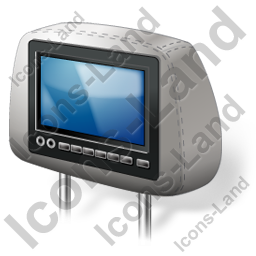 Car Headrest Monitor Icon, PNG/ICO, 256x256