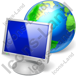 Computer Earth Icon