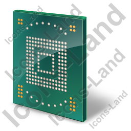 Embedded Memory Card Icon, AI, 256x256