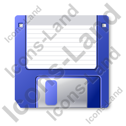 Floppy Disk Icon, PNG/ICO, 256x256