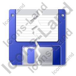 Floppy Disk Broken Icon