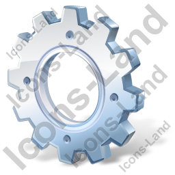 Gear Icon, PNG/ICO, 256x256