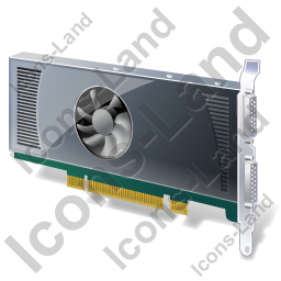 Graphics Card Icon, PNG/ICO, 256x256