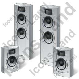 Home Theater System Speakers Icon, PNG/ICO, 256x256