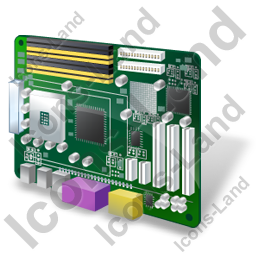 Motherboard Icon, PNG/ICO, 256x256