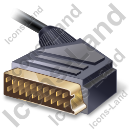 SCART Connector Plug Icon