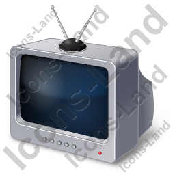 TV Set Retro Icon
