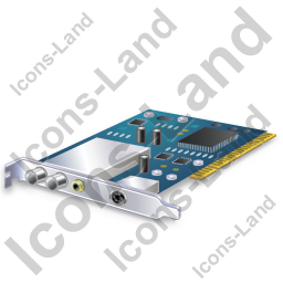 TV Tuner Card 1 Icon, PNG/ICO, 256x256