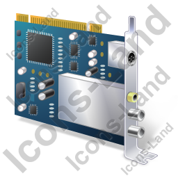 TV Tuner Card 2 Icon, PNG/ICO, 256x256