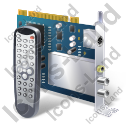 TV Tuner Card 2 Remote Control Icon, PNG/ICO, 256x256
