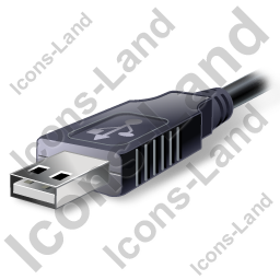 USB Connector Plug Icon, PNG/ICO, 256x256