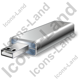 USB Flash Card Icon, PNG/ICO, 256x256