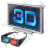3D Display Glasses Icon, PNG/ICO, 48x48