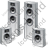 Home Theater System Speakers Icon, PNG/ICO, 48x48