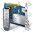 TV Tuner Card 2 Remote Control Icon, PNG/ICO, 48x48