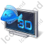 3D Display Icon, PNG/ICO, 64x64