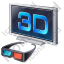 3D Display Glasses Icon, PNG/ICO, 64x64