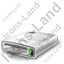CD Drive 1 CD Inside Icon, PNG/ICO, 64x64