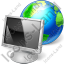 Computer Off Earth Icon