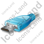 HDMI Connector Plug Blue Icon