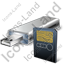 USB Flash Card Card Reader Card Icon, PNG/ICO, 64x64