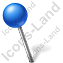 Map Marker Ball Left Blue Icon, PNG/ICO, 128x128
