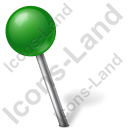 Map Marker Ball Left Green Icon, PNG/ICO, 128x128