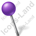 Map Marker Ball Left Violet Icon