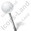 Map Marker Ball Left White Icon