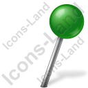 Map Marker Ball Right Green Icon